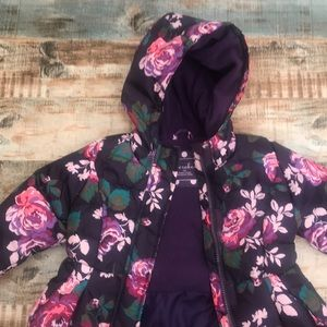 Floral winter coat 12 month